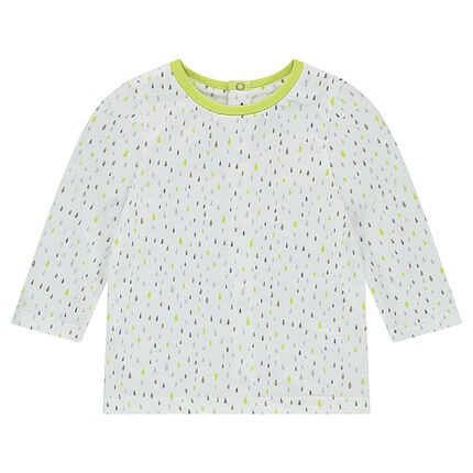 """T-shirt met lange mouwen uit jerseystof met prafische print """"all-over"""""""