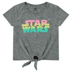 Tee-shirt manches courtes à nouer avec print Star Wars™ effet dégradé