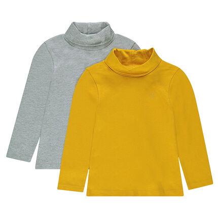 Junior - Lot de 2 sous-pulls unis en jersey