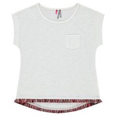 Junior - Tee-shirt manches courtes avec franges fantaisie