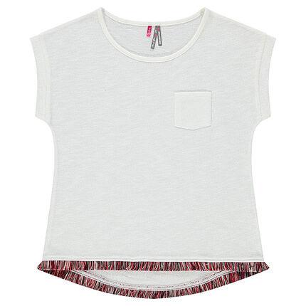 Junior - T-shirt met korte mouwen en fantasiefranjes