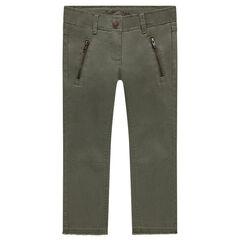 Pantalon skinny en twill uni