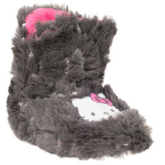 Pantoffels in imitatiebont patch Hello Kitty