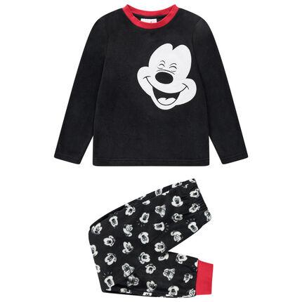 Pyjama en polaire motif Mickey Disney et touches de rouge