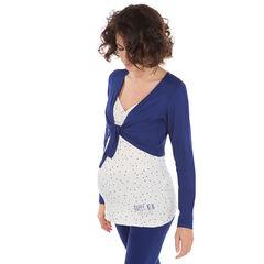 T-shirt met lange mouwen ideaal als homewear tijdens de zwangerschap en de borstvoeding
