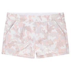 Short en jacquard avec motif army irisé all-over