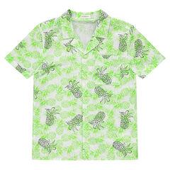Junior - Chemise manches courtes avec ananas printés