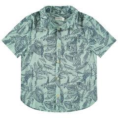 """Hemd met korte mouwen en jungleprint """"all-over"""""""