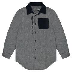 Junior - Flanellen hemd met elleboogpatches