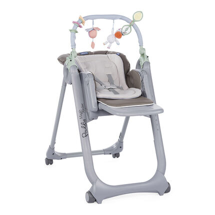 Chaise haute évolutive Polly Magic Relax - Dove Grey