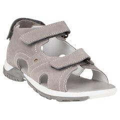 Open schoenen in leder met lintjes