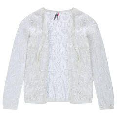 Vest van tricot met ajour
