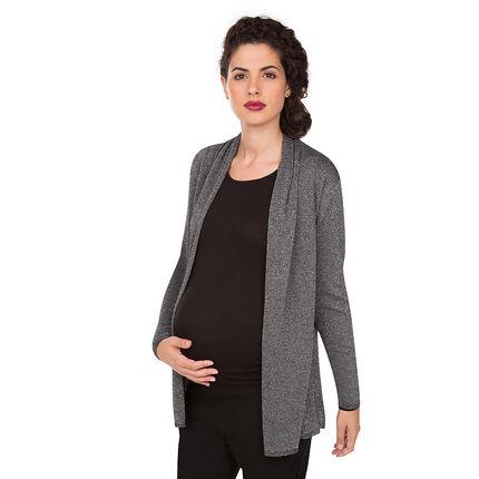 Zwangerschapsvest met fantasiepanden en lurex