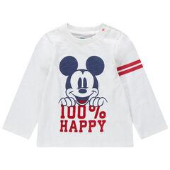 T-shirt met lange mouwen van jerseystof met print van Mickey Disney