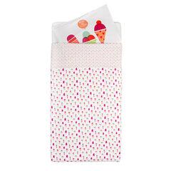 Parure housse de couette + taie d'oreiller imprimé glaces - 165 x 100 cm