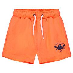Oranje zwemshort met krabbenprint