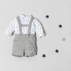 Ensemble van hemd met sterrenprint en korte tuinbroek