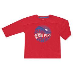 Tee-shirt manches 3/4 avec print fantaisie