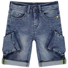 Bermuda à poches esprit cargo en jean