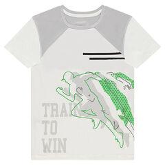 Tee-shirt manches courtes avec print esprit sport