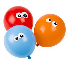 Set met 10 verjaardagsballonnen met oogmotief