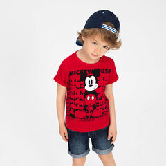 Tee-shirt manches courtes en jersey print Mickey ©Disney