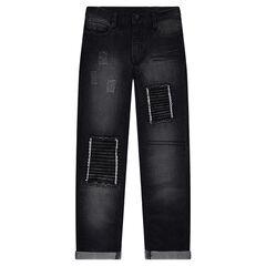Junior - Jeans met used effect, patches en scheuren