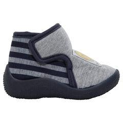 Pantoffellaarsjes met klittenband en badge ©Smiley
