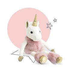 Knuffel eenhoorn Glitter 25 cm - Roze