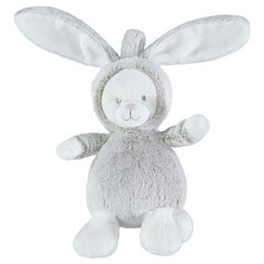 Pluchen konijnenknuffel van velours en sherpastof