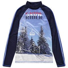 Junior - Sous-pull technique ski col cheminée avec sublimation ski
