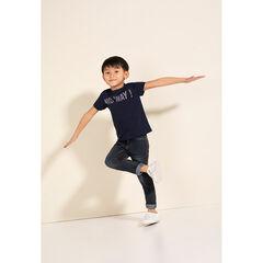 Junior - Tee-shirt manches courtes en jersey avec motif fantaisie printé
