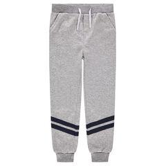 Junior - Pantalon de jogging en molleton avec bandes appliquées