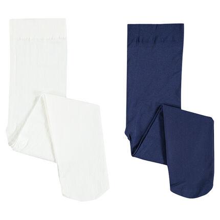 Set van 2 panty's in effen kleur