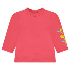 Sous-pull en jersey avec print végéta et ouverture pressionnée dos