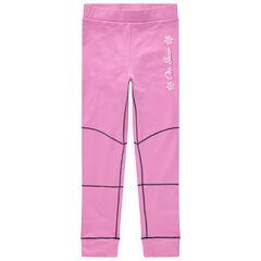 Roze skilegging met contrasterende sierstiksels