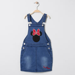 Robe salopette en jean à broderie Minnie Disney