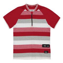 Junior - Polo manches courtes avec col zippé