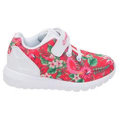 Lage sneakers met sublimatie en tropische stijl