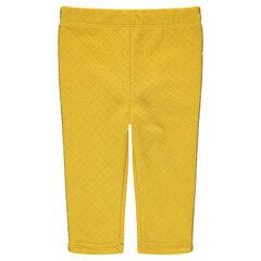 Legging en jersey fantaisie avec passeoil doré sur les côtés