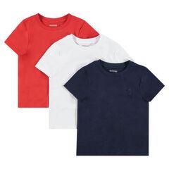 Junior - Set met 3 T-shirts met korte mouwen uit jerseystof met print met logo