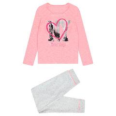 Junior - Pyjama en jersey bicolore avec print fantaisie NY