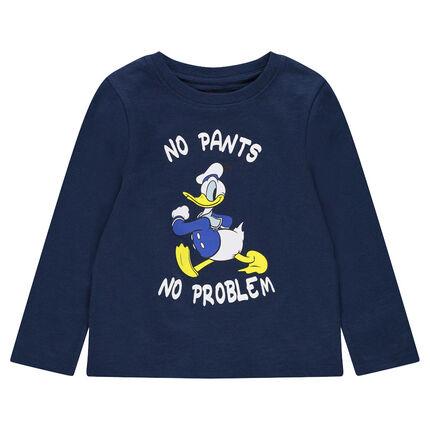 Tee-shirt manches longues en jersey print Donald Duck ©Disney
