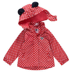 "Rubberen windstopper van Disney's Minnie met stippenprint ""all-over"""