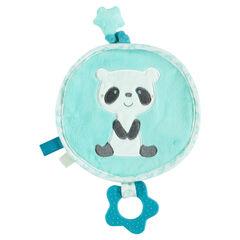 Doudou en velours avec panda brodé