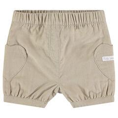 Short en velours côtelé avec poches en forme de coeur