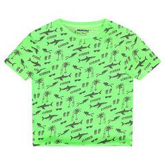 """T-shirt met korte mouwen uit jerseystof met fantasieprint """"all-over""""."""