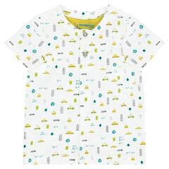 """T-shirt met korte mouwen uit jerseystof met fantasieprint """"all-over"""""""