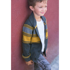 Gilet en tricot avec rayures contrastées en jacquard