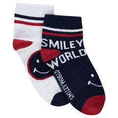 Lot de 2 paires de chaussettes à motif jacquard ©Smiley